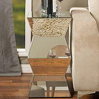 Baxton Studio Sakina Mirrored Geometric End Table
