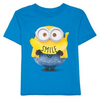 "Toddler Boy Despicable Me Minions Banana ""Smile"" Graphic Tee"