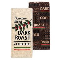 Food Network™ Dark Roast Coffee Kitchen Towel 2-pk.