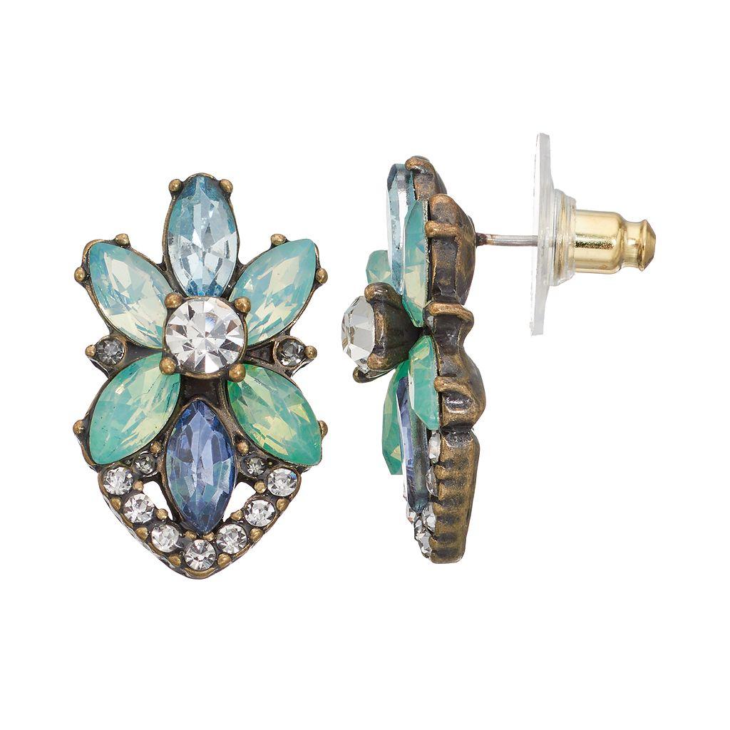 LC Lauren Conrad Marquise Starburst Earrings