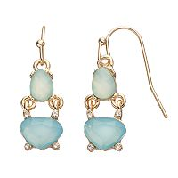 LC Lauren Conrad Blue Double Drop Earrings