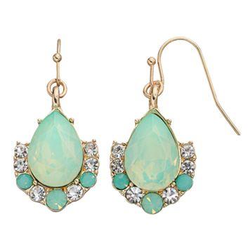 LC Lauren Conrad Mint Green Teardrop Earrings