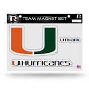 Miami Hurricanes Team Magnet Set