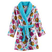 Girls 6-12 Shopkins D'Lish Donut & Kooky Cookie Pattern Plush Robe
