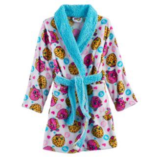 Girls 6-12 Shopkins D'Lish Donut & Kooky Cookie Pattern Plush Robe