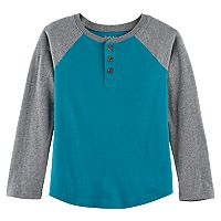 Boys 4-10 Jumping Beans® Raglan Colorblock Softest Henley