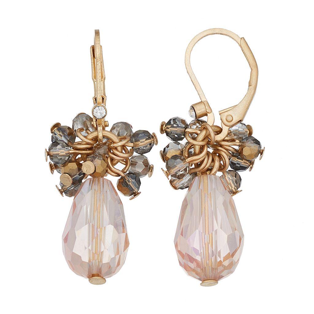 Simply Vera Vera Wang Nickel Free Faceted Bead Cluster Drop Earrings
