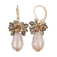 Simply Vera Vera Wang Nickel Free Faceted Bead Cluster Drop Earrings
