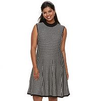 Juniors' Plus Size Candie's® Chevron A-Line Sweater Dress