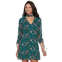 Juniors' Speechless Floral Choker Shift Dress