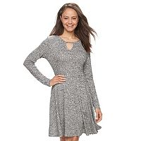 Juniors' Cloud Chaser Ribbed Skater Dress