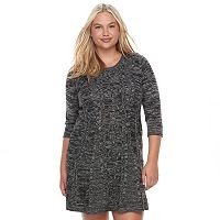Juniors' Plus Size Cloud Chaser Marled Sweater Dress