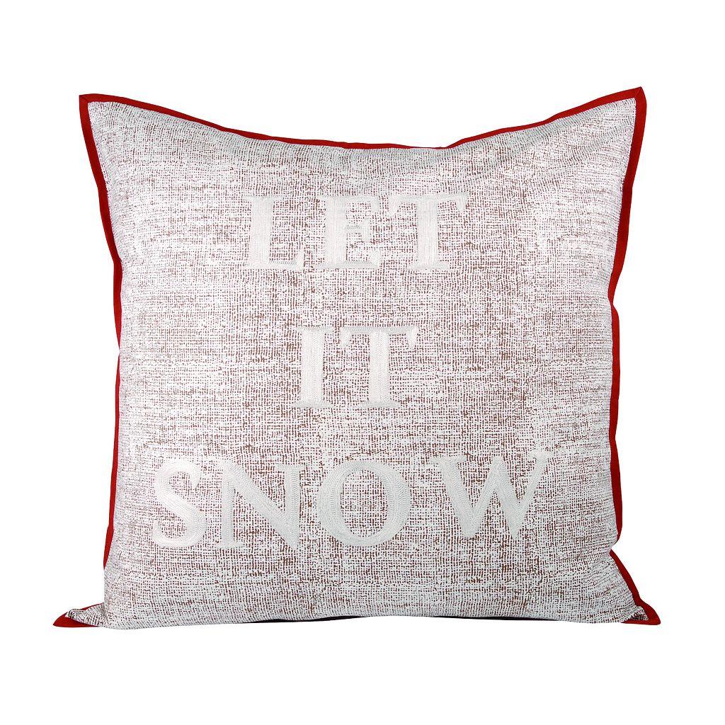 Pomeroy ''Let it Snow'' Throw Pillow