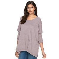 Women's Jennifer Lopez Lace-Up Dolman Caftan Sweater