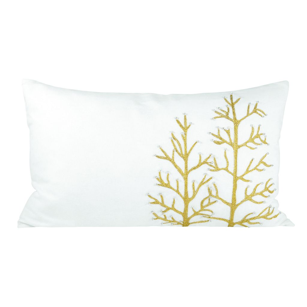 Pomeroy Winter Glitter Oblong Throw Pillow