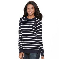 Juniors' SO® Raglan Crewneck Sweater