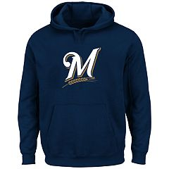 Big & Tall Majestic Milwaukee Brewers Logo Fleece Hoodie