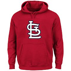 Big & Tall Majestic St. Louis Cardinals Logo Fleece Hoodie