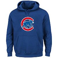 Big & Tall Majestic Chicago Cubs Logo Fleece Hoodie