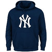 Big & Tall Majestic New York Yankees Logo Fleece Hoodie