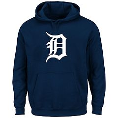 Big & Tall Majestic Detroit Tigers Logo Fleece Hoodie