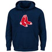 Big & Tall Majestic Boston Red Sox Logo Fleece Hoodie