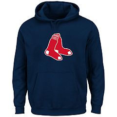 Big & Tall Majestic Boston Red Sox Logo Fleece Hoodie