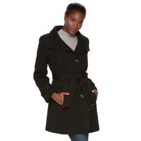 Women's Gallery Belted Wool Blend Coat