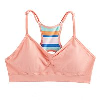 Girls 7-16 Maidenform Seamless Ruched Racerback Bra