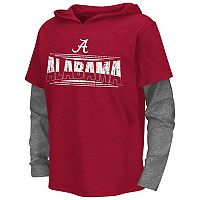Boys 8-20 Campus Heritage Alabama Crimson Tide Patrol Mock-Layer Tee