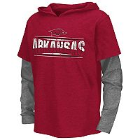Boys 8-20 Campus Heritage Arkansas Razorbacks Patrol Mock-Layer Tee