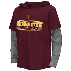 Boys 8-20 Campus Heritage Arizona State Sun Devils Patrol Mock-Layer Tee