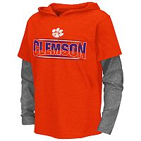 Boys 8-20 Campus Heritage Clemson Tigers Patrol Mock-Layer Tee