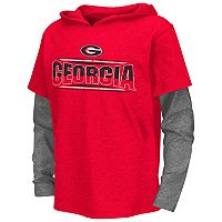 Boys 8-20 Campus Heritage Georgia Bulldogs Patrol Mock-Layer Tee