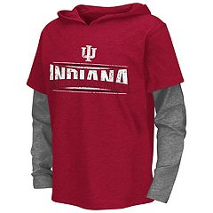 Boys 8-20 Campus Heritage Indiana Hoosiers Patrol Mock-Layer Tee
