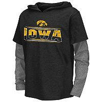 Boys 8-20 Campus Heritage Iowa Hawkeyes Patrol Mock-Layer Tee