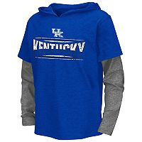 Boys 8-20 Campus Heritage Kentucky Wildcats Patrol Mock-Layer Tee