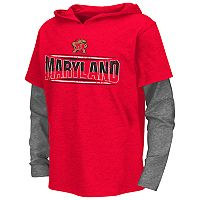 Boys 8-20 Campus Heritage Maryland Terrapins Patrol Mock-Layer Tee