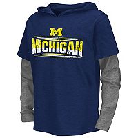 Boys 8-20 Campus Heritage Michigan Wolverines Patrol Mock-Layer Tee