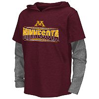 Boys 8-20 Campus Heritage Minnesota Golden Gophers Patrol Mock-Layer Tee