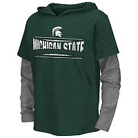 Boys 8-20 Campus Heritage Michigan State Spartans Patrol Mock-Layer Tee