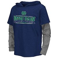 Boys 8-20 Campus Heritage Notre Dame Fighting Irish Patrol Mock-Layer Tee