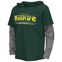 Boys 8-20 Campus Heritage Oregon Ducks Patrol Mock-Layer Tee