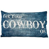 Pomeroy ''Get Your Cowboy On'' Oblong Throw Pillow