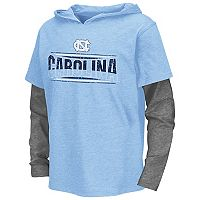 Boys 8-20 Campus Heritage North Carolina Tar Heels Patrol Mock-Layer Tee