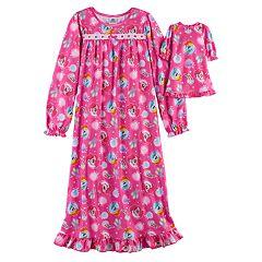 Girls 4-10 My Little Pony Rainbow Dash & Pinkie Pie Nightgown & Doll Gown Set