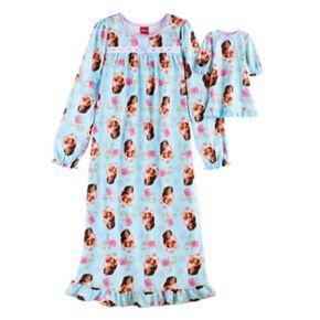 Disney's Elena Avalor Girls 4-8 Pattern Nightgown & Doll Gown