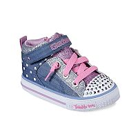 Skechers Twinkle Toes Shuffles Diggity Dot Toddler Girl Light-Up Shoes