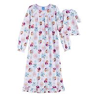 Disney's Frozen Elsa, Anna & Olaf Girls 4-10 Patterned Nightgown & Doll Gown Set