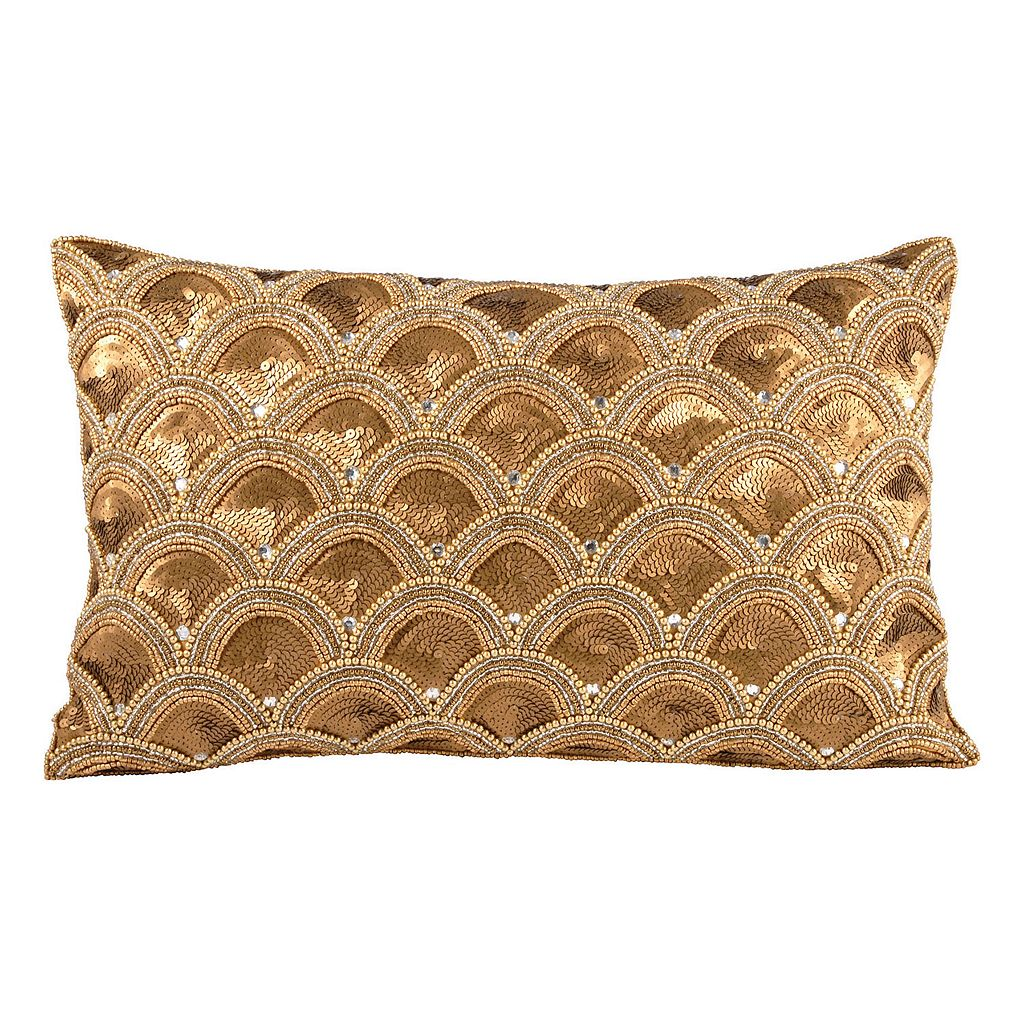 Pomeroy Gilded Scallops Oblong Throw Pillow